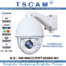 2016 new TSCAM  HD 1080P 2.0MP DM-RMC217FIPT-KS30IA-W1 Outdoor IR Speed Dome Camera 30X Optical Zoom Lens IP Camera with Wiper
