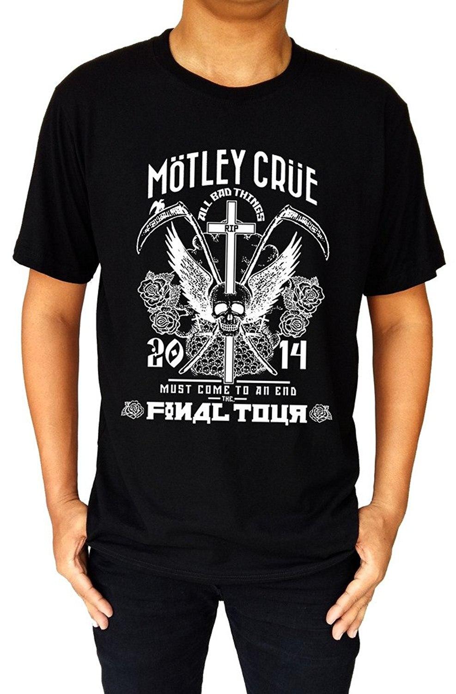 MOTLEY CRUE *The Final Tour Logo Metal Rock Band Men's Black T-Shirt Size S-3XL Men and Woman T Shirt Free Shipping Top Tee