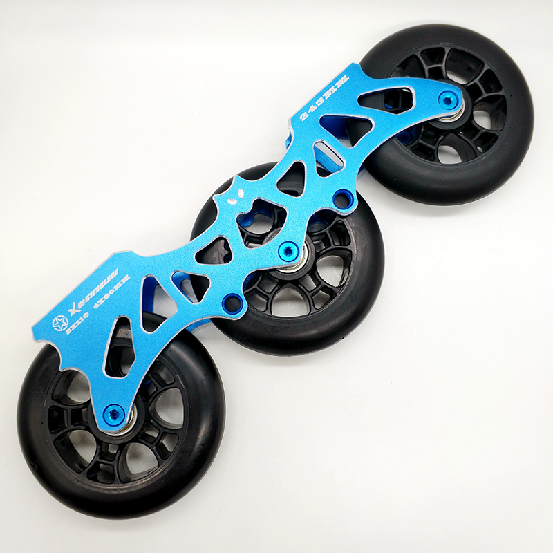 free shipping roller skates frame 243 mm bat frame 4 x 80 mm 3 x 110 mm 2 in 1 including wheels стоимость
