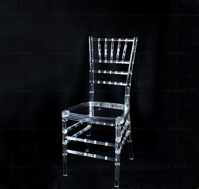 Wedding Acrylic Chair 4pcs/lot Transparent Clean Party Chairs Wedding Props()