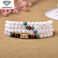 supply of male and female counter multi Ring Bracelet White Shell with six words Cheng Qu 108 beads crystal jewelry
