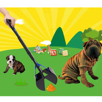 New Arrival 5 Colors Plastic Long Handle Dog Cat Pet Pooper Scooper With A Handle Jaw