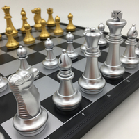 Standard Chess Set Magnetic Board Size 36 cm x 36 cm Chess Tournament Outdoor Travel Games Gifts For Men Folding Storage Box