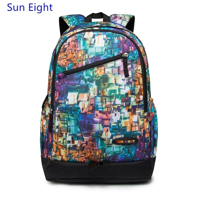 432bfbf544fd US $28.66 |Sun Eight ethnic backpacks for teenage girls cool backpacks  women school bag fashion printing backpack for notebook travel bags-in  School ...