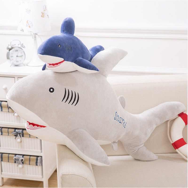 Новый стиль плюшевая игрушка «Акула» большая кукла рыба из ткани КИТ мягкие игрушки в виде животных с плюшевой набивкой куклы для детей подарок на день рождения