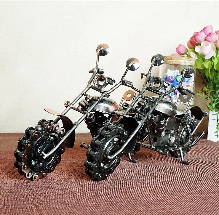 Us 2403 6 Offhandwerk Vintage Gear Motorfiets Metalen Ambachtelijke Ornamenten Ketting Motorfiets Model Woonkamer Kast Versiering 24817 Cm In