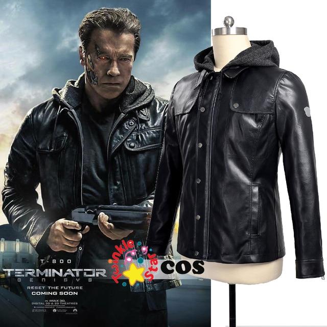 chaqueta de Terminator hombres motocicleta cosplay del cuero Genisys BqBUwHnP