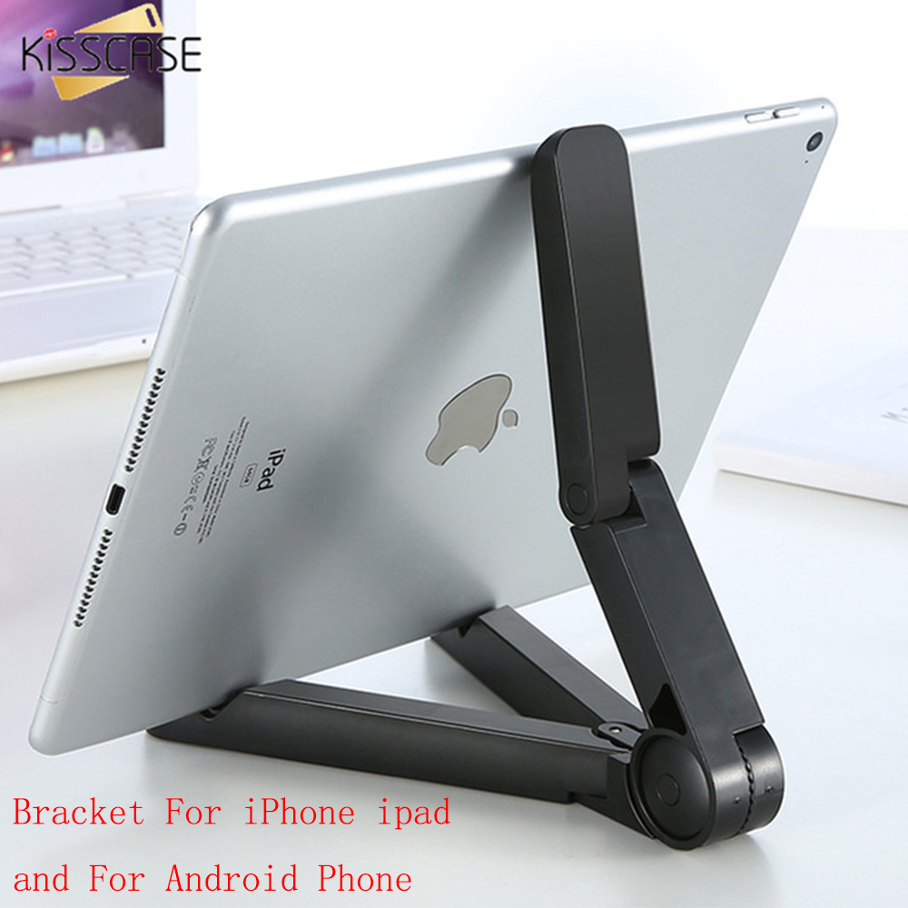 KISSCASE Universal Mobile Phone Holder Stand Mini Foldable Desk Holder Untuk iPhone Untuk Samsung Xiaomi Huawei Holder Untuk iPad