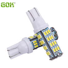 10pcs/lot T10 led smd light 194 168 192 w5w 3014smd t10 54led Auto Led Car Lighting Clearance Bulbs Wedge Lamp