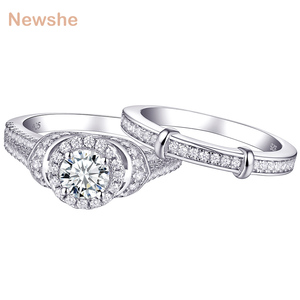 Newshe Solid 925 Sterling Silver Wedding