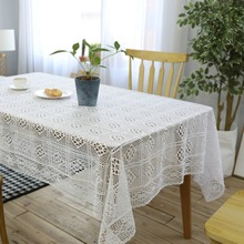 Christmas Tablecloth Table Cover Handmade Crochet Transparent Cotton Lace Chic Vintage Crocheted Table Cloth Wedding Decor new white lace cotton crochet tablecloth coffee table cloth mat round tea table cover dining christmas xmas party wedding decor