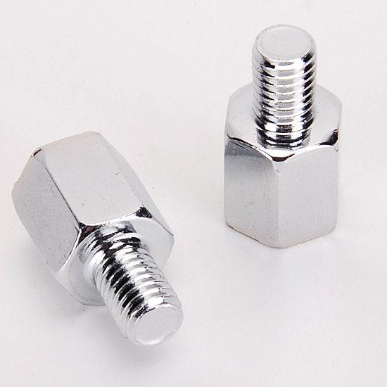 Motorcycle or Scooter Mirror Adapters View Bolts Screw 10mm to 8mm Clockwise
