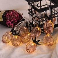 Nuovo 2 M Oro Rosa Forma di Ananas LED Luci Leggiadramente LED Batteria Luci Della Stringa Festival Wedding Party Casa Decorativa String luci