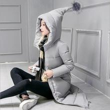 New Winter Coats Jackets 2016 Women Hooded Coat Casual Long Slim Thicken Warm Padded Down Parkas