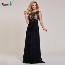 Dressvชุดราตรีสีดำราคาถูกแขนกุดกระโปรงคอซิปแขนกุดงานแต่งงานชุดราตรีอย่างเป็นทางการ