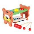 Crianças bebê multifuncional bater piano de madeira 8 sons bater tabelas presente brinquedo educacional da primeira infância música toys