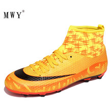 MWY Outdoor Football Boots Soccer Shoes Men Zapatos De Futbol Profesionales Mens High Top Cleats Training Sport Sneakers