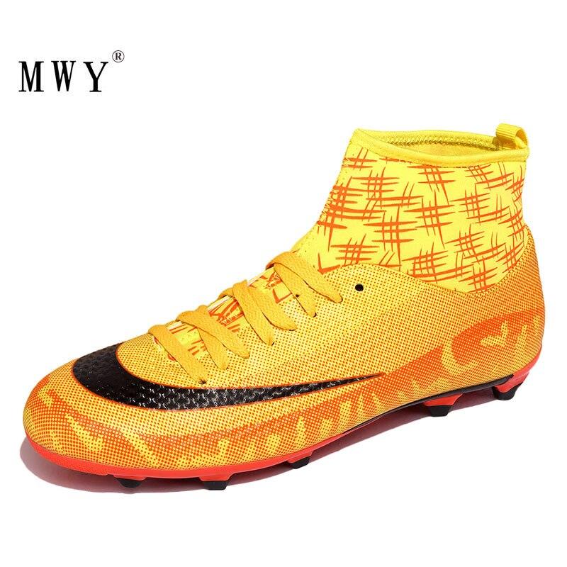MWY Outdoor Football Boots Soccer Shoes hombres Zapatos De fútbol Profesionales hombres's hightop Cleats zapatillas deportivas De entrenamiento