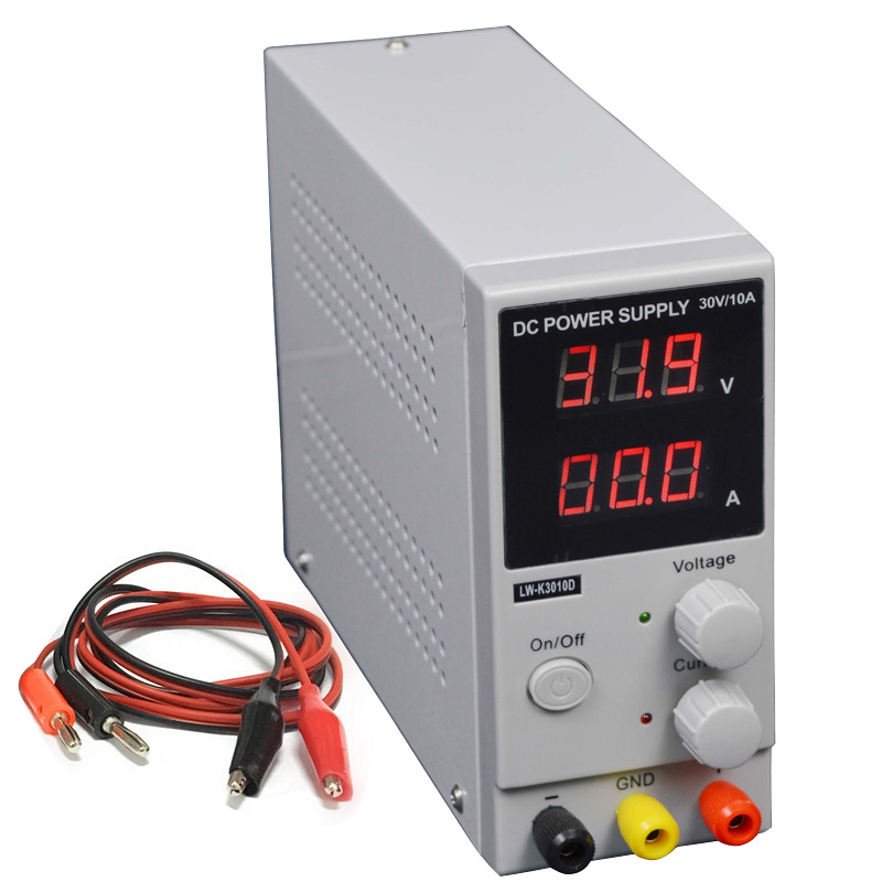 LW-K3010D DC Power Supply Adjustable Digital Lithium Battery Charging 30V 10A Voltage Regulators Switch Laboratory Power Supply