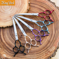 Professional Dog Curved Shears 6.5 Inch Dog Curved Scissors Pet Grooming Scissors Purple Red Black Blue Golden Kingbird NEW