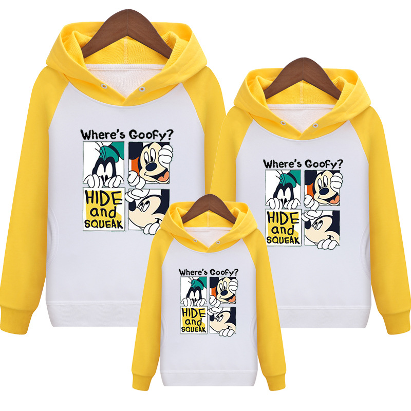 HTB1sIVBVG6qK1RjSZFmq6x0PFXax - Family Matching Outfits Kids Long Sleeves Cartoon Mickey Hoodies Coats Father Mother Daughter Son Sweatshirts Dad Mom Hoodies