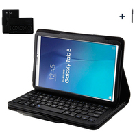 For Samsung Galaxy Tab E 9.6 Wireless Bluetooth Keyboard Case For Galaxy Tab E 9.6 T560 Tablet Flip Leather Stand Cover +Stylus