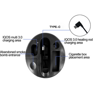 Image 5 - JINXINGCHENG Portable 2 in 1 Design Car Charger for IQOS 3.0 Charger Type C Charging ABS Material for Iqos Multi 3.0