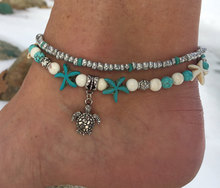 Beads Starfish Anklets For Women,Foot Boho Jewelry