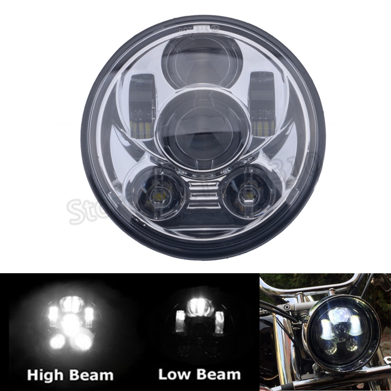 5.75 LED Motorcycle Headlight 5-3/4 Motos Accessories For Harley Sporster Dyan Sportster 1200 XL1200L Custom XL1200C image