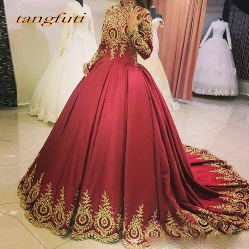 Burgundy Lace Evening Dresses Long Sleeve Ball Gown Party Beautiful Women Appliques Prom Formal Evening Gowns Dress Wear On Sale