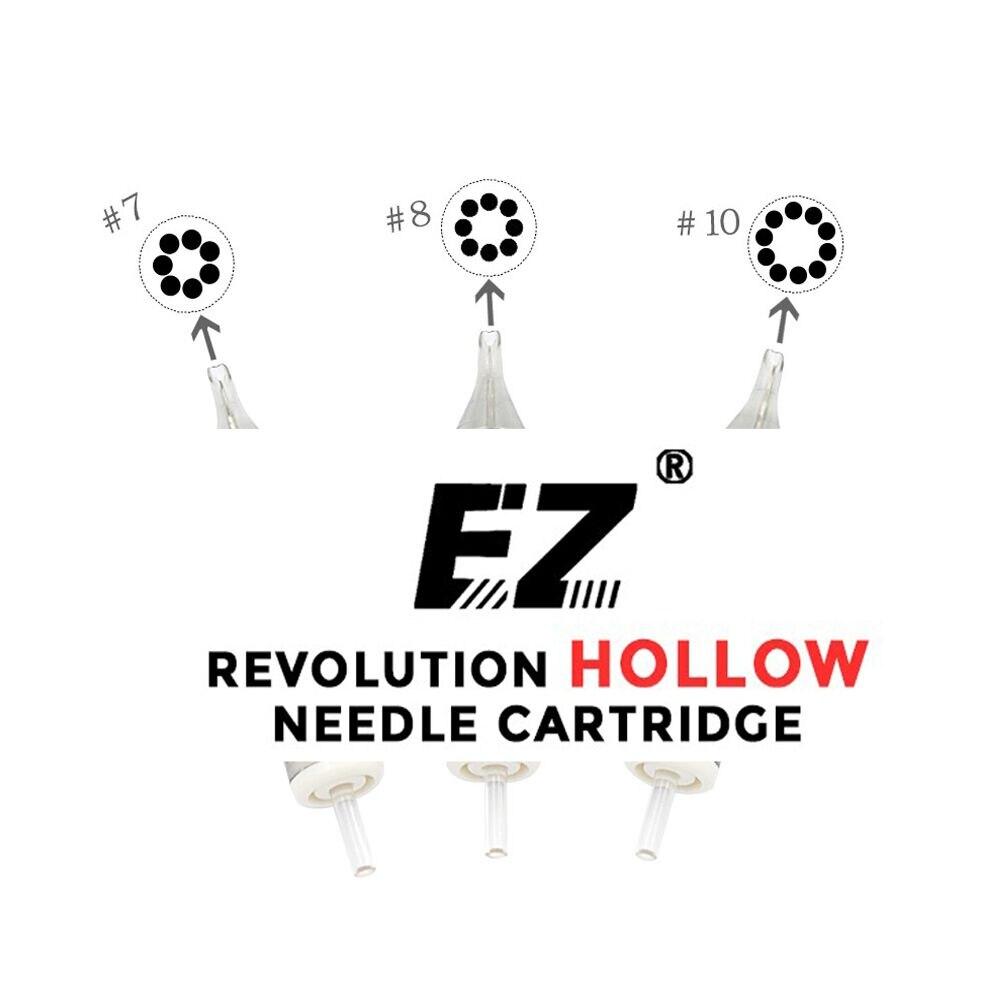 EZ New Revolution Needle Cartridge Hollow Round Liner Tattoo Needle for Rotary Cartridge Tattoo Machine Grips