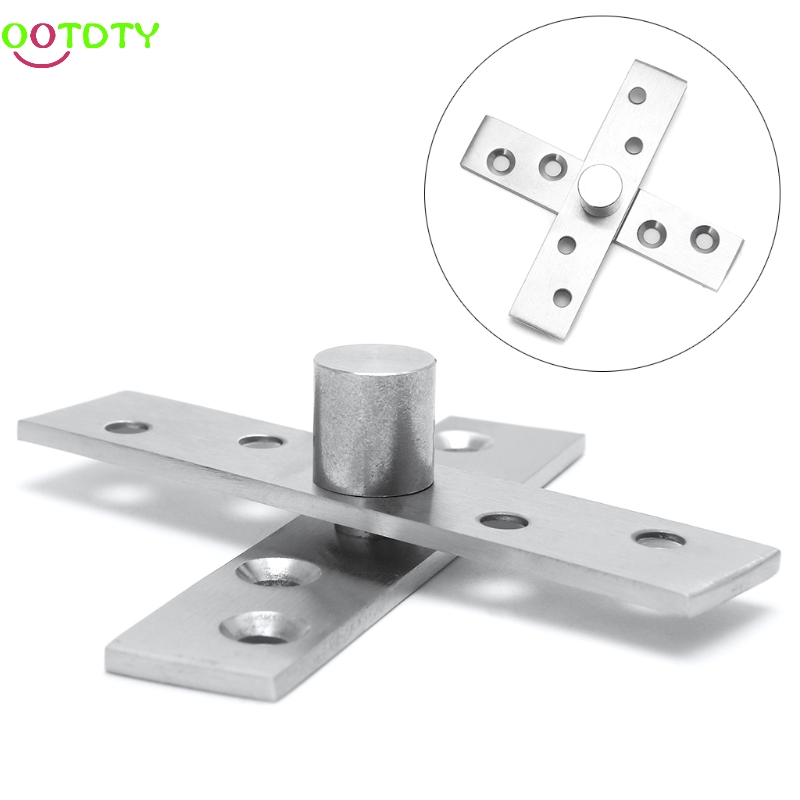 Rotating Hinge 360 Degree Stainless Steel Door Pivot Up Down Shaft 75/95/100mm  828 Promotion 2pcs set stainless steel 90 degree self closing cabinet closet door hinges home roomfurniture hardware accessories supply