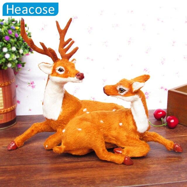2016 пары оленей/Лось 2 шт. Рождественские украшения для дома ноэль natal кукла стекаются новогодние украшения Санта-игрушки клаус оленей