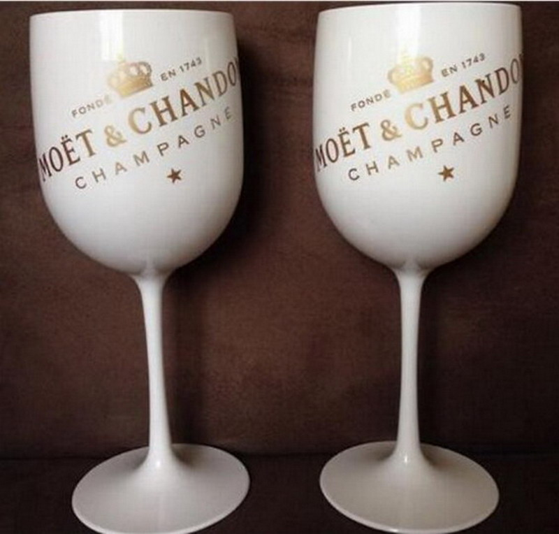 Partie de vin en plastique blanc champagne verre MOET vin moet verre une pièce