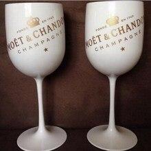 Пластик вина Вечерние белый бокал для шампанского Стекло MOET вина moet Стекло one piece