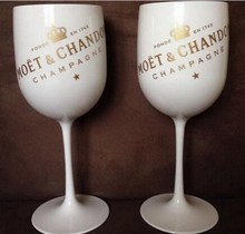Plastic wine PARTY White champagne glass MOET moet Glass one piece