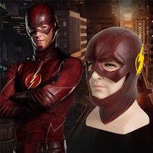 The Flash mask halloween masquerade party cosplay Movie Superhero masks mascaras de latex realista carnaval mascara careta maske