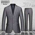 Marca nova primavera 2016 ternos de negócio dos homens, high-end two-piece suit
