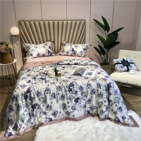 Summer air conditioning Tencel Silk Comforter Throw Blanket King Queen size Bedspread Bed cover Bed spread colcha couvre lit