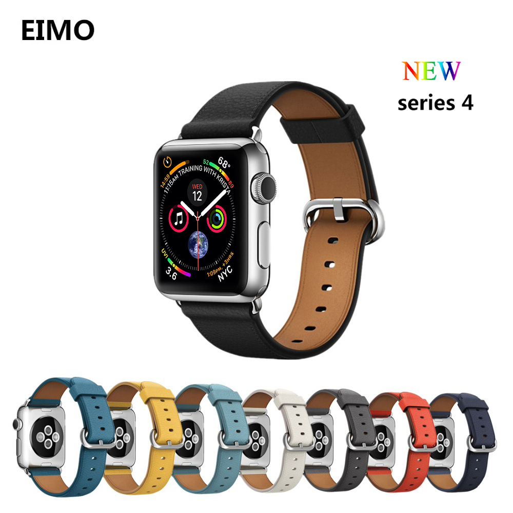 Leather Strap For apple watch band 44mm 40mm correas aple watch 42mm 38mm Stainless Steel Iwatch series 4/3/2/1 Wrist Bracelet цена