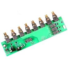 3 כניסות 1 פלט אודיו מקור מיתוג עם OMRON ממסר AC9 15v