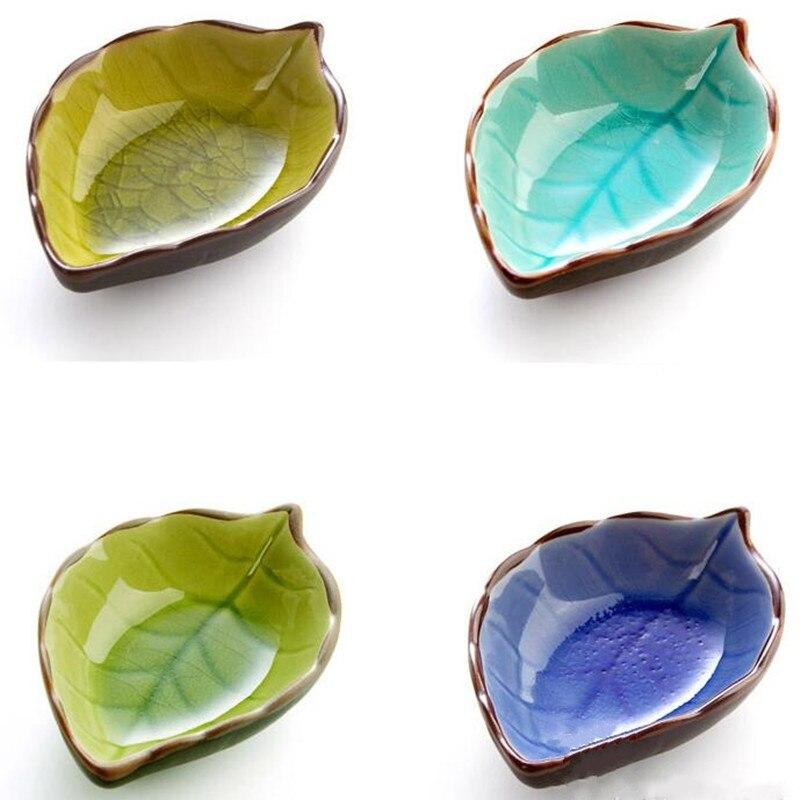 Handcraft Leaves Ceramic Plates, Services A Vaisselle Porcelaine Assiette  Japonaise For Kitchen Utensils Chinese Pottery
