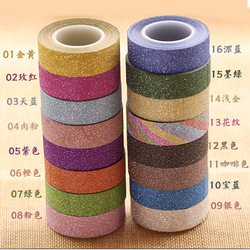 Brokat Washi taśma klejąca samoprzylepny na lepkie rzemiosło dekoracyjne DIY do przydomowego ogrodu etykieta Craft dekoracyjne 22 kolory JD25