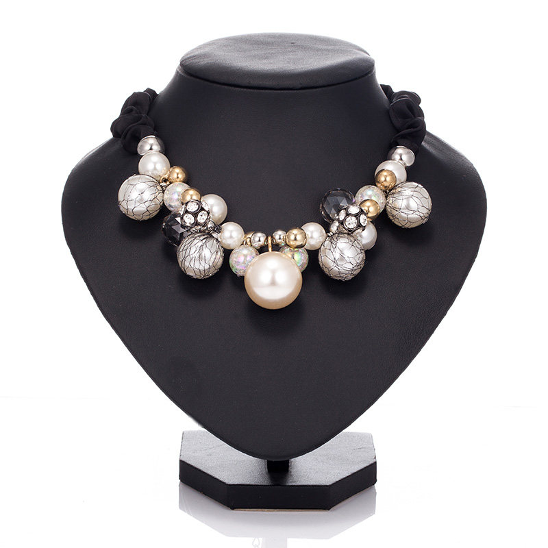 Pearl Crystal Necklaces Statement Beaded Necklace Jewelry for Women Handmade Female Necklace Hot Items Sale Retail