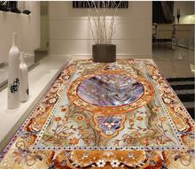 3D wallpaper floor for living room marble Waterproof floor mural painting   Custom Photo self-adhesive 3D floor