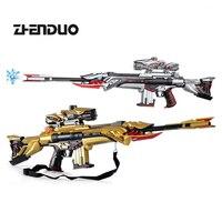 ZhenDuo Toy Lehui 317 Gel ball blaster Electric Burst of M4 dark brake star children's toy gun outdoor CS submachine gun