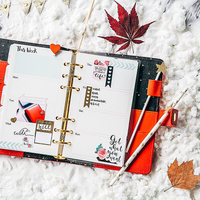 2017 Dokibook Winter Series Red Personal Diary Planner Japanese Kawaii Notebook Agenda Organizer School Gift Stationery