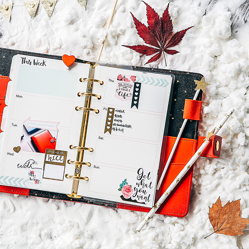 Lovedoki 2018 Winter Series Red Personal Diary Planner Japanese Kawaii Notebook Agenda Organizer School Gift Stationery A5A6A7