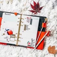 2017 Dokibook Winter Series Red Personal Diary Planner Japanese Kawaii Notebook Agenda Organizer School Gift Stationery