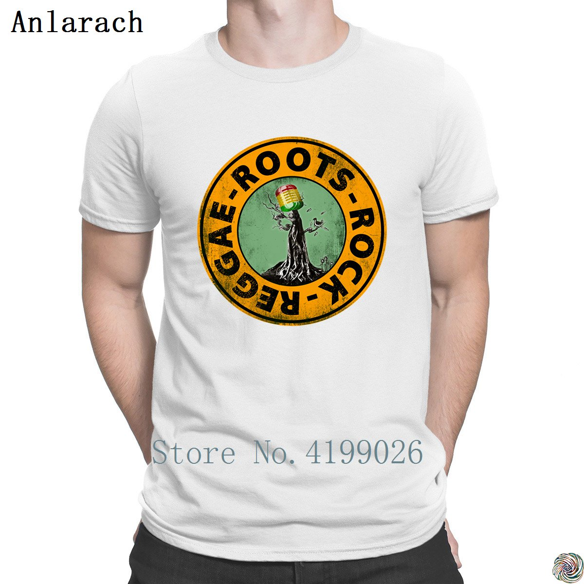 Image 3 - Roots Rock Reggae. t shirts Euro Size Pop Top Tee Basic Solid men's tshirt Designing High quality summer Anlarach New Style-in T-Shirts from Men's Clothing